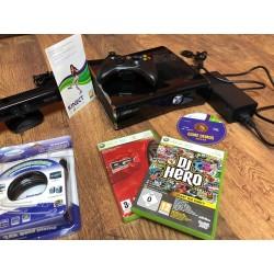 XBOX 360,250gb+Kinect+2db game+HDMI