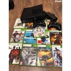Xbox 360+13db top játék+HDMI