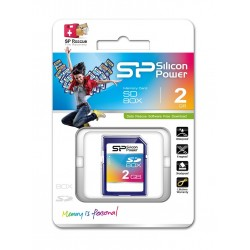 SILICON POWER MicroSD +adapter HC 2GB
