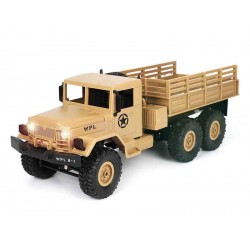 RC katonai autó,Amerikai hadsereg teherautó 1:16 WPL-B16R  6WD (bézs)